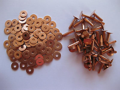 Разное Copper saddlers rivets 10 Gauge