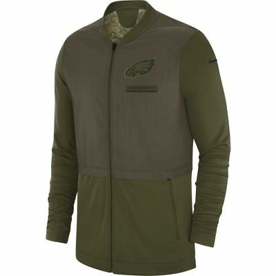Philadelphia Eagles NFL 2018 Mens Salute To Service Hybrid Jacket 6ab2a7507