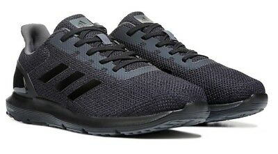 1364c91e54e97 Mens Adidas Cosmic 2 All Black Running Athletic Sport Shoes CQ1711 Size 10.5