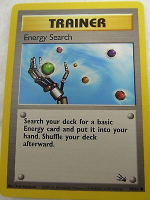 Energy Search 59/62 Fossil Pokemon Card NM-Mint Never Played