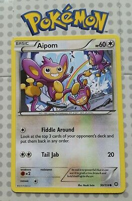 Pokemon card Aipom 90/114 Basic Common Colorless Mint Steam Siege