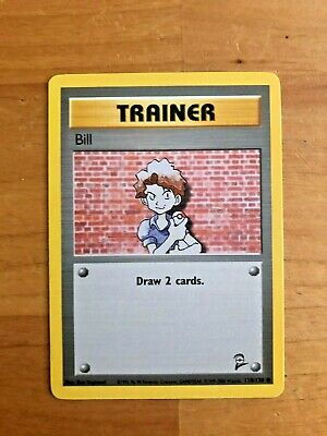 Pokemon Card Trainer Bill Base Set 2 118/130 - Very Nice Condition!