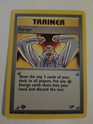 Fervor Trainer Gym Challenge Pokemon Card LP 124/132