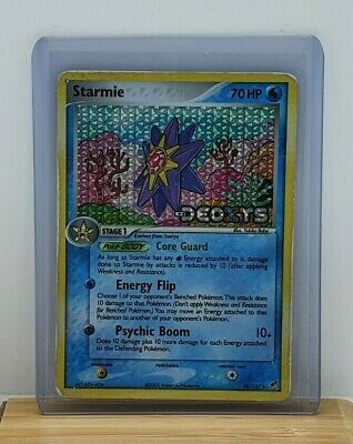 Starmie Stamped Holo / Shiny Pokemon TCG Card EX Deoxys 48/107 Moderate Play