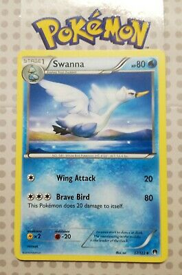 Pokemon card Swanna 37/122 Stage 1 Uncommon Water XY Breakpoint Mint