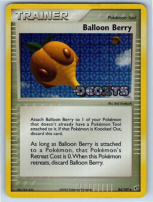 EX Deoxys Holo Stamp Balloon Berry 84/107 Pokemon Trading Card MP / HP