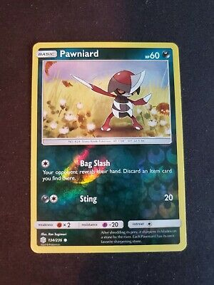 Pawniard - 134/236 - Common Reverse Holo Pokemon Cosmic Eclipse!