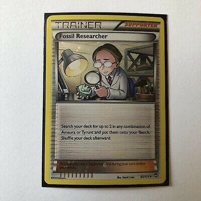 Pokemon TCG Fossil Researcher 92/111 Holo Uncommon XY Furious Fists