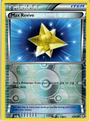 Generations Max Revive 65/83 Reverse Holo Pokemon Trainer Trading Card LP