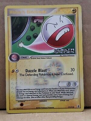 Holon's Electrode Reverse Holo Rare EX Delta Species Stamp Pokemon Light Play