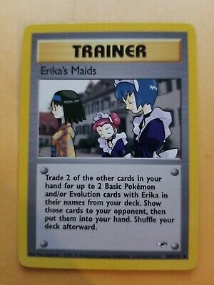 NM/M Erika's Maids 109/132 Gym Heroes Unlimited Pokemon Card