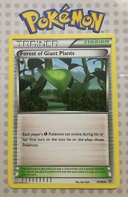 Pokemon card Forest of Giant Plants 74/98 trainer Uncommon Ancient Origins Mint