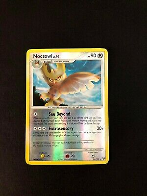 Noctowl 34/130 Diamond & Pearl Reverse Holo Rare Pokemon Trading Card Game