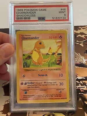 Pokemon Base Shadowless Charmander 46/102 PSA 9
