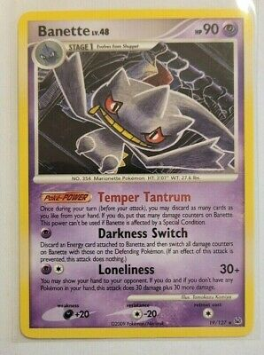 Pokemon Platinum Base Set Banette Rare 19/127 NM/M Condition