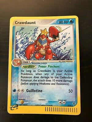 2003 Pokemon - Crawdaunt - Holo Rare - EX Dragon - 3/97 - NM