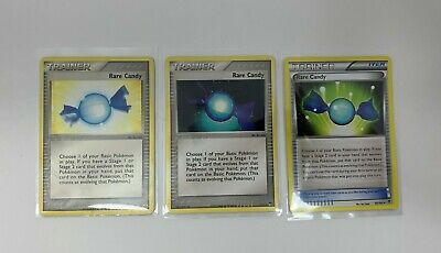 Pokemon Rare Candy x3 Emerald #83/106 Plasma Blast #85/101 POP Series #7/17
