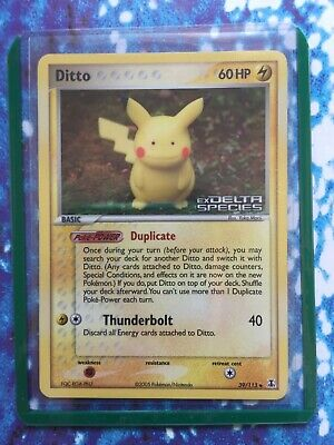 Ditto 63/113 Stamped Reverse Holo Delta Species NM Pokemon Card w/ Scans Pikachu