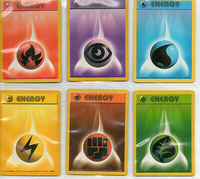 Pokemon Cards - ENERGY - Unlmited Base Set / Base Set 2 / Gym / Neo Genesis