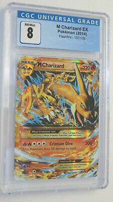 Pokemon TCG - M Charizard EX - Flashfire 107 - CGC 8