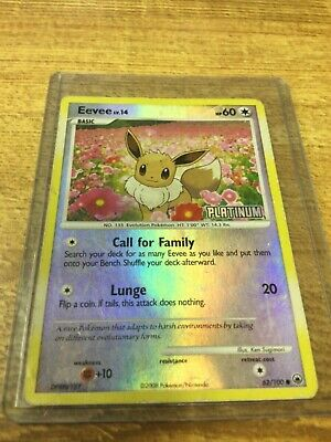 Pokemon Majestic Dawn Eevee 62/100 Reverse Holo Common Good Condition See Photos