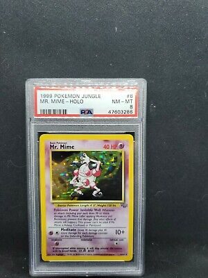Mr. Mime Holo - Jungle 6/64 - NM MT PSA 8 - Pokemon TCG