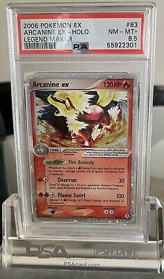 PSA 8.5 NM-MINT+ EX Legend Maker Arcanine ex #83 Pokemon Card TCG POP 3
