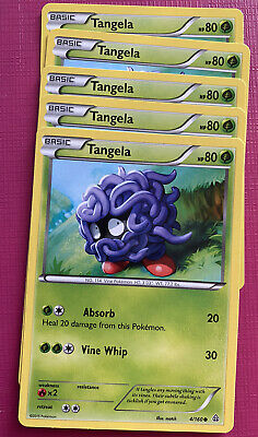 5x Pokemon - Tangela - 4/160 - Common - 2015 - Nintendo - LP - Primal Clash