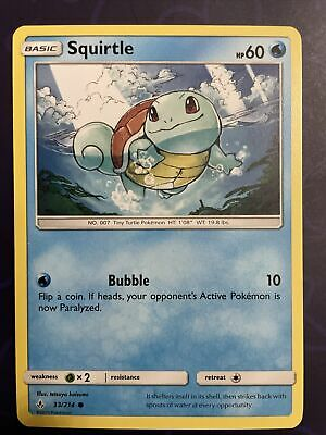 Pokemon Unbroken Bonds Squirtle Common Card 33/214 New