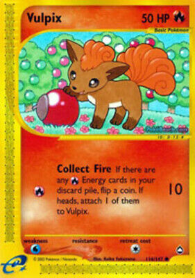 Slightly Played, English - 1 x Pokemon Vulpix - 116/147 - Common Aquapolis