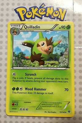 Pokemon card Quilladin 13/146 Stage 1 Uncommon Grass XY base Mint