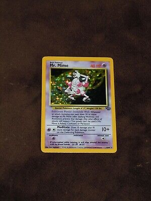 Mr. Mime 1999 Holo 6/64 Wotc Pokemon Card #6 Mp Jungle Rare