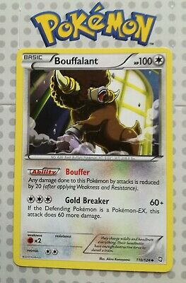 Pokemon card Bouffalant 110/124 Uncommon Colourless Mint Dragons Exalted