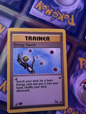 ENERGY SEARCH 59/62 1st Edition | Trainer Pokemon TCG Fossil Set 1999 WoTC NM