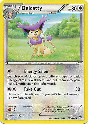 Pokemon XY Delcatty 105/146 Uncommon Card