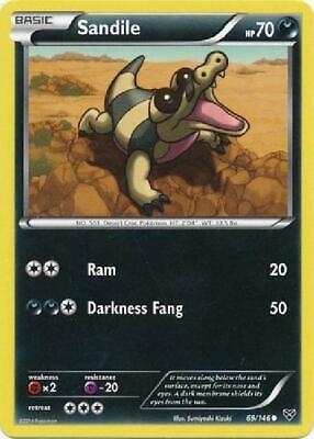6x Sandile - 69/146 - Common NM XY (Base Set) Pokemon Flat 99cShipping/order