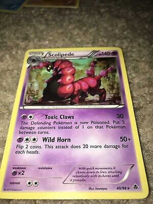 Pokemon Card - Emerging Powers 40/98 - SCOLIPEDE (rare) - NM/Mint