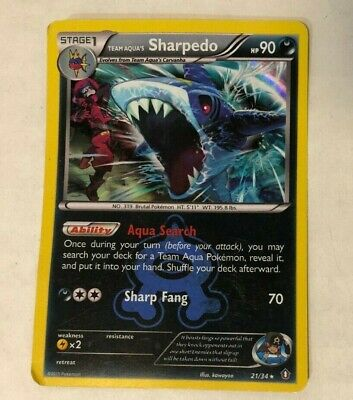 Pokemon TEAM AQUA'S SHARPEDO 21/34 - Double Crisis RARE HOLO