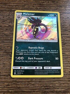 Malamar 119/214 Unbroken Bonds Holo Pokemon Card