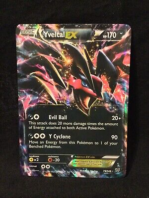 Pokemon YVELTAL EX 79/146 Holo Rare XY Base Set MINT