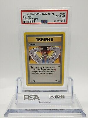 Pokemon Gym Challenge 1st Edition Fervor 124 - PSA 10 GEM MINT