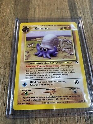 OMANYTE 60/75 ENGLISH Neo Discovery ©2001 NEAR MINT CONDITION Pokemon Card
