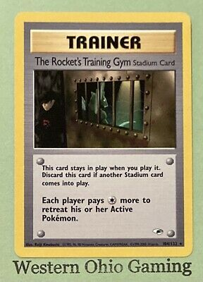 Pokemon The Rocket's Training Gym #104 Rare Trainer USED READ Gym Heroes Single