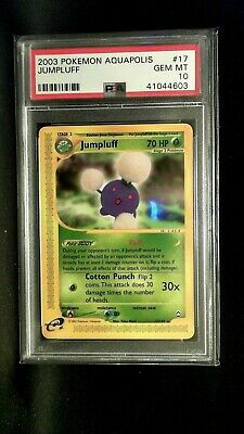 Pokemon Psa 10 Gem Mint #17 2003 Pokemon Aquapolis Jumpluff