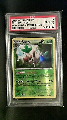 Pokemon Psa 10 Gem Mint #7 2014 Pokemon Xy Shiftry - Holo Flashfire Reverse Foil