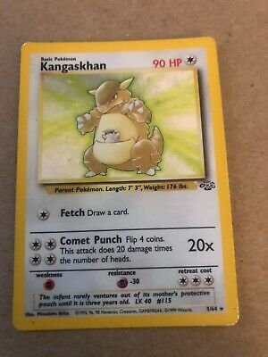 KANGASKHAN 5/64 Holo Foil Rare JUNGLE Pokemon Card wotc Lightly played