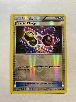 Pokemon TRAINER SPECIAL CHARGE 105/114 UNCOMMON NM CARD  STEAM SIEGE