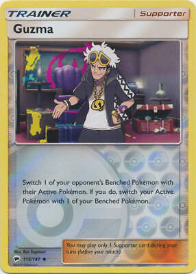 Pokemon - Guzma - 115/147 (Reverse Foil) - SM Burning Shadows - Uncommon