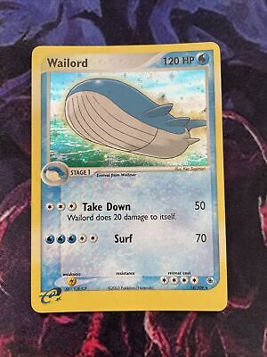 Pokemon EX Ruby And Sapphire Wailord 14/109 NM