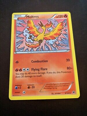 Pokemon Trading Card Game XY Fates Collide Moltres Basic 9/124 2016